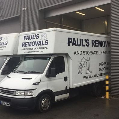 Two of the vans our team are able to use for our removal service