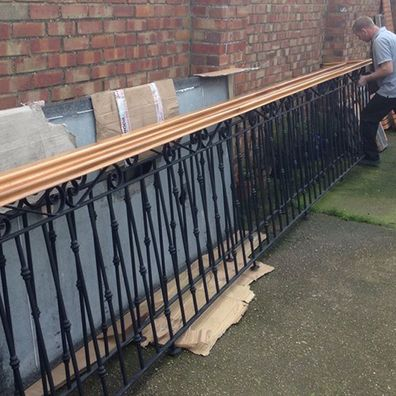 Railing being removed ready for a safe move
