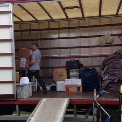 Ou largest van being loaded